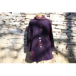 Manteau polaire violet